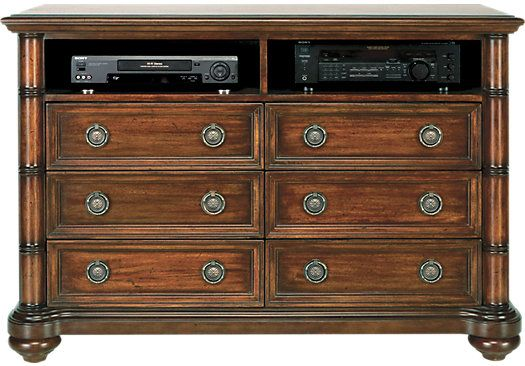 Shop For A Cindy Crawford Home Key West Dark Pine Media Chest At Rooms To Go Find Tv Consoles