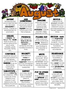 Free Download: August Choice Board {HOTS for Early Finishers}