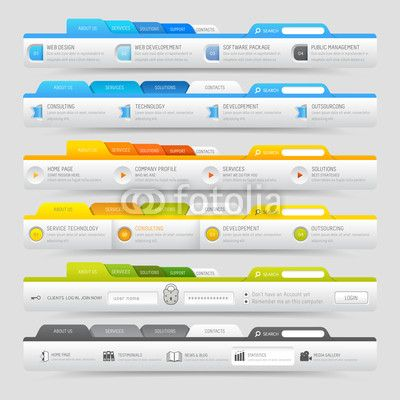 30 best images about 16. WebDesign: Menu on Pinterest   Icons ...
