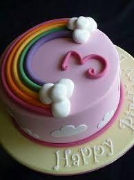 Resultado de imagem para bolos de aniversário com o arco iris