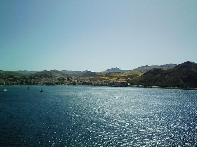 view from Limnos island port   Λήμνος - πανέμορφος ουρανός γη και θάλασσα   #aegean #relax #horizon #walk #nature #environment #sea #beach #seashore #sky #blue #pintrplaces #sunset #port #place #Limnos #island http://my.aegean.gr/gallery/Places/Greece/Limnos/Image0003.jpg.html