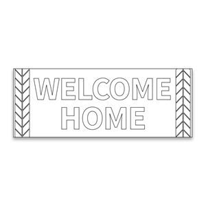 welcome sign coloring pages - photo#44