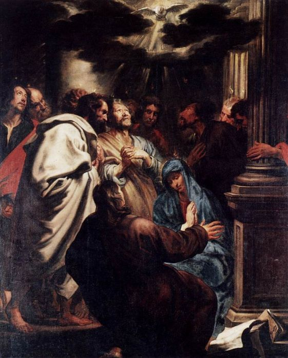DYCK, Sir Anthony van. Pentecost. (1618-20, Staatliche Museen, Berlin)