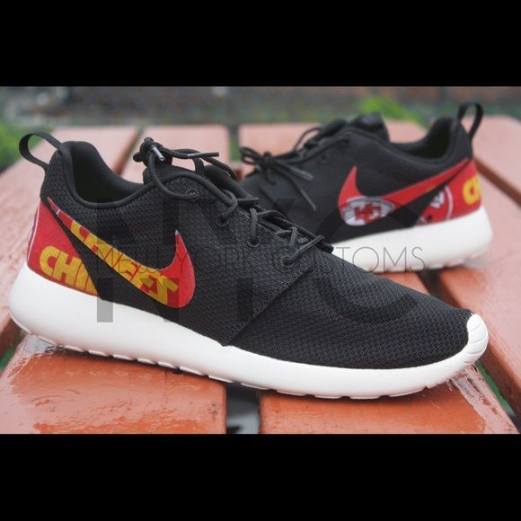Nike Shoes - Kansas City Chiefs Nike Roshe One Custom
