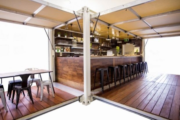 Repurposed Shipping Containers, Plus Stretch Marquees, Equal Fast And Easy Fun | Stretch Structures