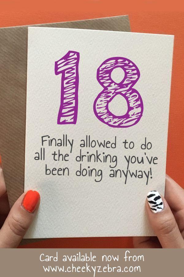 Funny 18th Birthday Card female in 2020   18th birthday ...