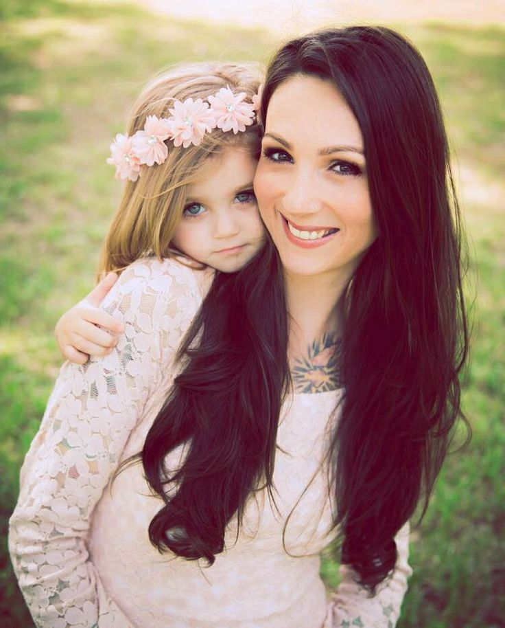 Beautifully editorial mother daughter portrait