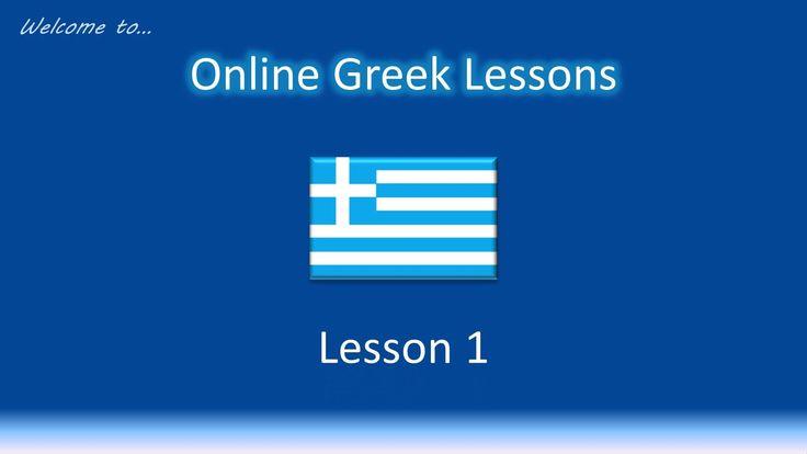Online Greek Lessons - Lesson 1