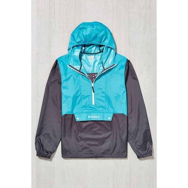 Columbia Flashback Windbreaker Jacket ($48) ❤ liked on Polyvore featuring activewear, activewear jackets, green, sweater pullover, columbia, columbia pullover, columbia activewear и hooded pullover