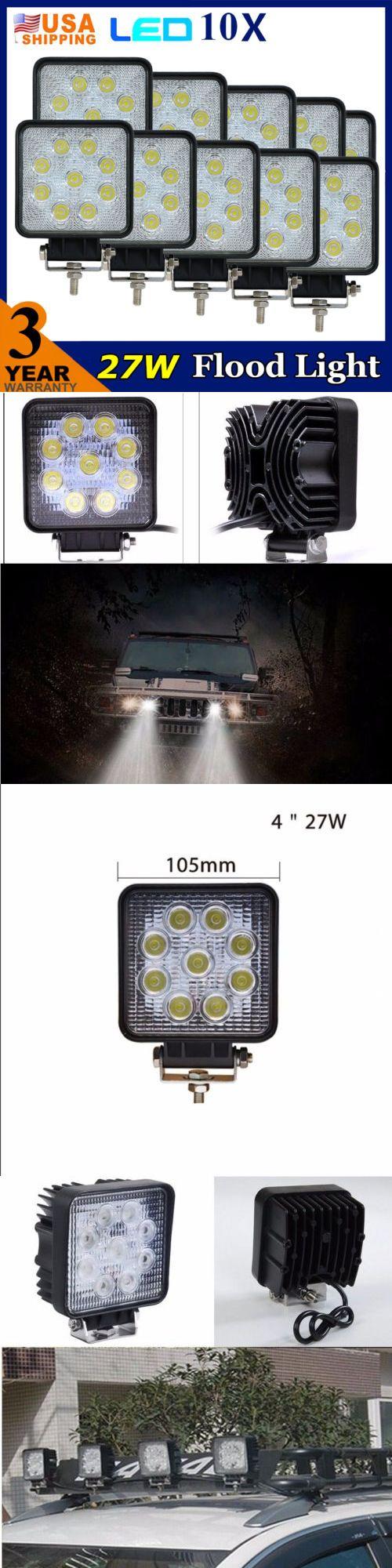 Car lighting 10 x 27w led work light flood beam offroad atv jeep suv 4wd