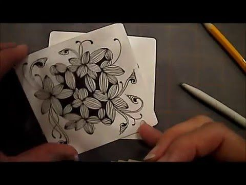 Garlic Clove Tangle Pattern Lesson # 26 - YouTube
