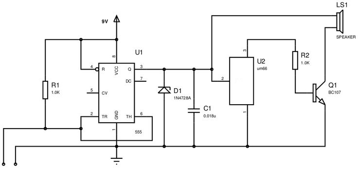 F E A D E F Cb Adc F on Continuity Tester Circuit Diagram – Electronicshub Org