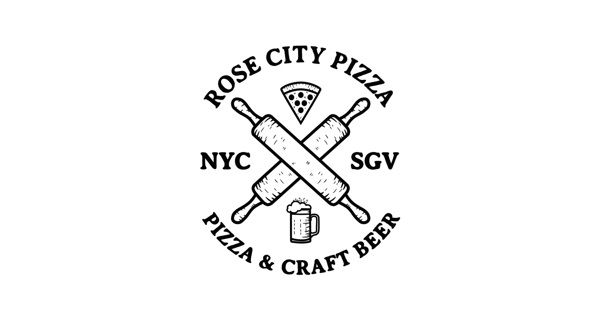 Rose City Pizza by Noel Shiveley, via Behance