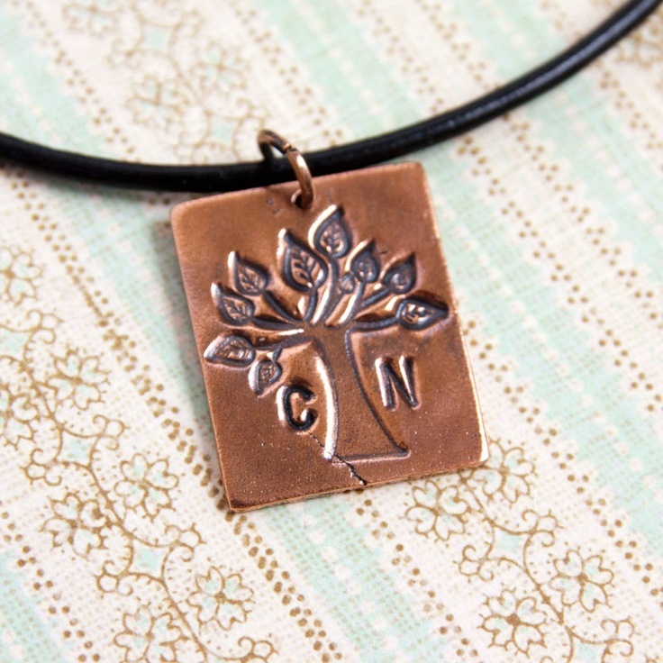 Tree of Life Copper Pendant with Initials £35.00
