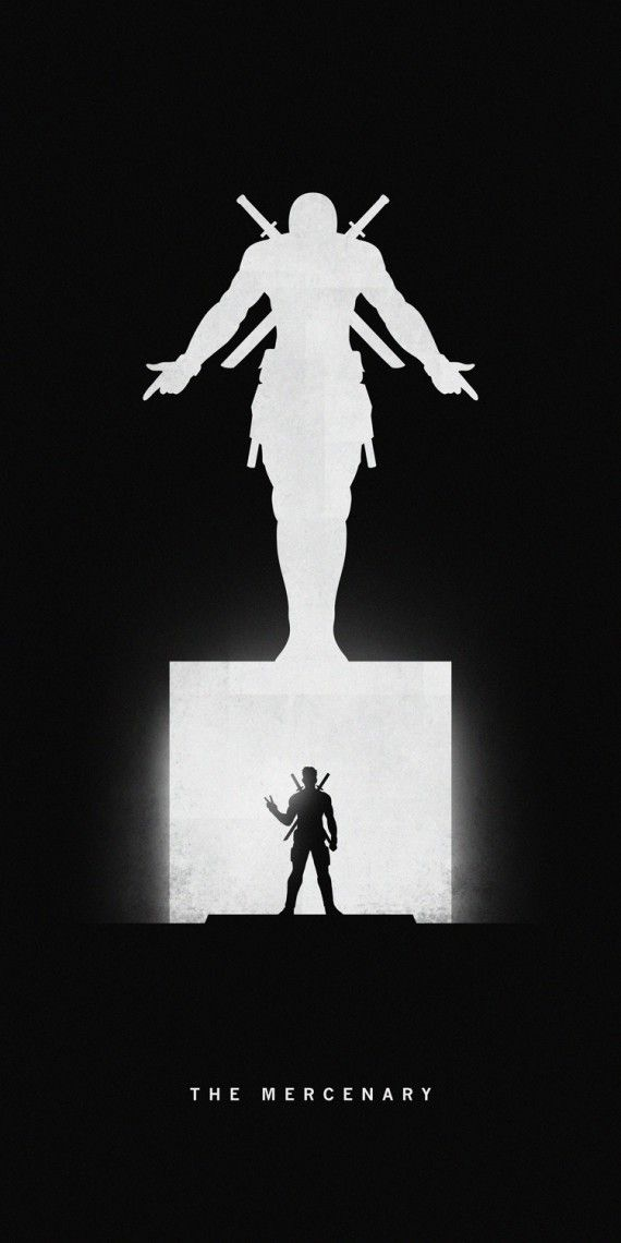 De superbes affiches silhouettes des super-héros et autres personnages cultes