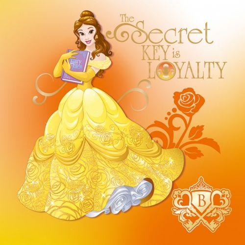 Принцесса Белль в бальном платье с книгой