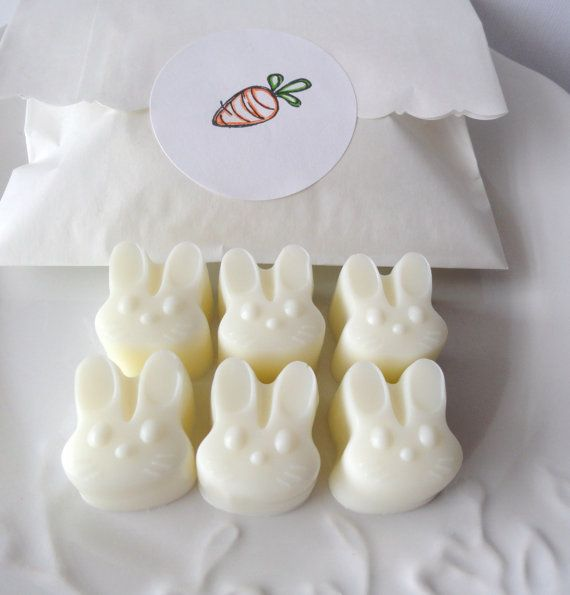 Adorable bunny soaps on Etsy for Easter baskets