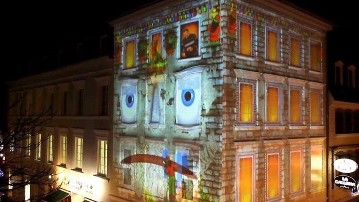 #Das grimmige #Haus    3D Gebaeudeprojektion #Christkindlmarkt #Saarbruecken 2013  #Saarland Mittels Video-Mapping #und Beamer #koennen #wir #Architektur #zum #Leben erwecken. #Gebaeude #werden #durch #eine 3D-Projektion #zur #Leinwand, #die #wir #mit allerhand Erstaunlichem bespielen. Visuelle Effekte #werden #an #die #Struktur #der #Gebaeude angepasst #und #spielen #mit ihr: Waende #stuerzen #ein, #Gebaeude fuellen #sich #von #innen #mit #Wasser, Figuren #klettern #die http