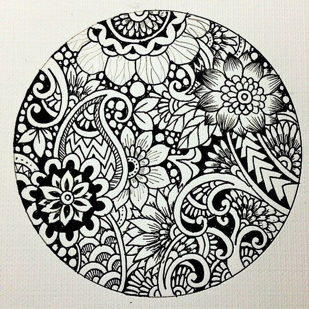 Best 25 Dibujos blanco y negro ideas on Pinterest  Mandalas
