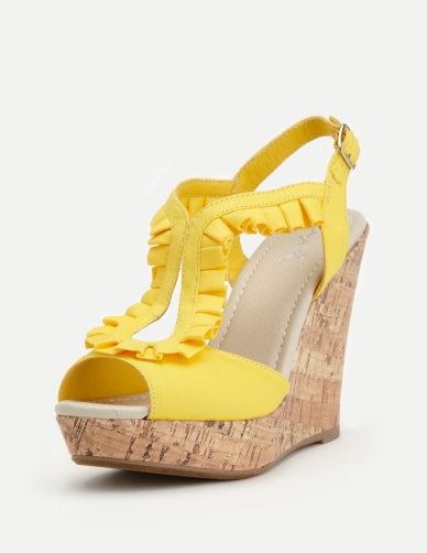 I'm dreaming of some yellow ruffled wedges.  (and the day I get to wear heels again!)