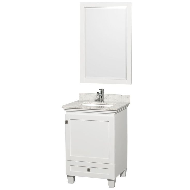 Photo Gallery In Website Wyndham Collection Acclaim inch Single White Vanity White no top no mirror Size Single Vanities