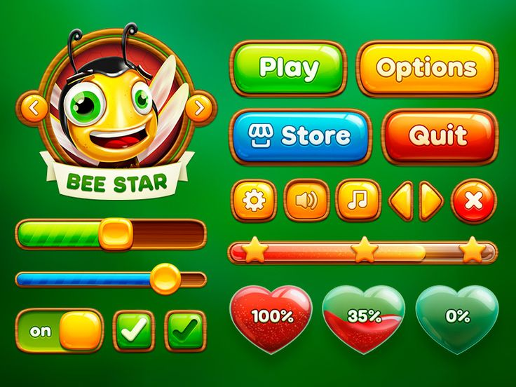 Feel the perfect taste of honey in our new Bee Star UI :) Check out full set in attachment