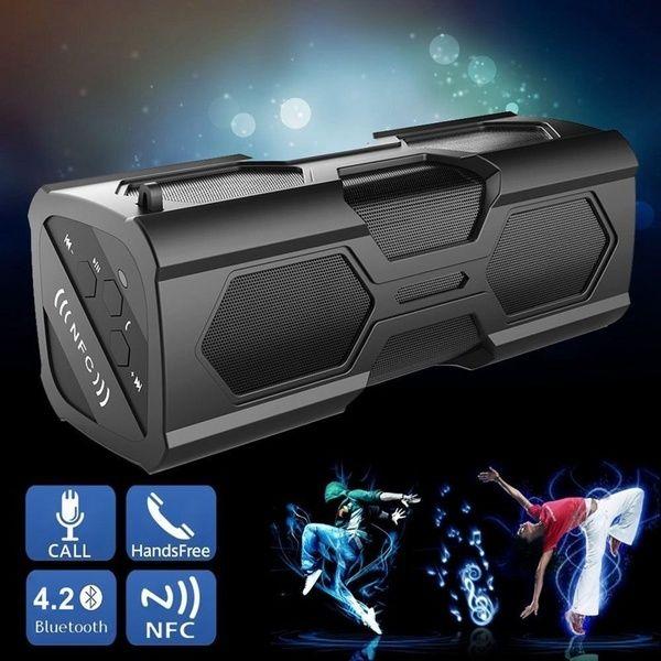 Portable Bluetooth 4.2 Wireless Speaker Waterproof Power Bank Bass Subwoofer NFC