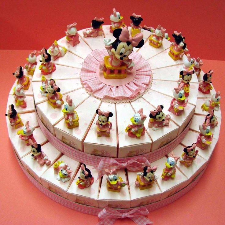 Italian Favor Cake with Disney Minnie Mouse, 42 boxes http://www.tortebomboniere.com/bomboniere/walt-disney-favor-cake.html