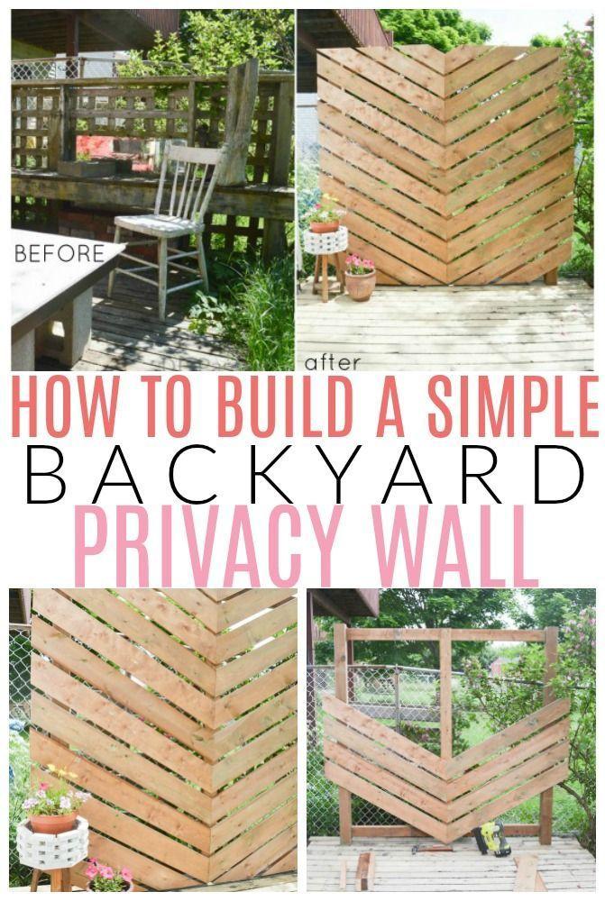 So bauen Sie eine einfache Chevron Outdoor Privacy Wall – Clara Corona