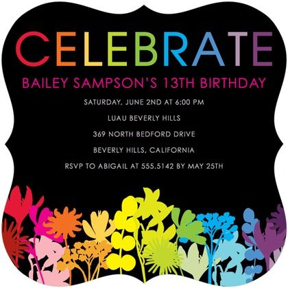 30 best colorful card design images – Party Invitation Sites