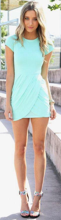 Aqua short dress ♦F&I♦