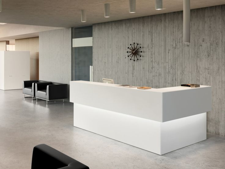 Small Office Reception Design Ideas: Modern Office Reception Area Design Ideas With Recessed