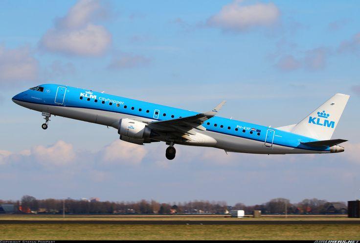 Embraer 190STD, KLM Cityhopper, PH-EXF, cn 19000690. Amsterdam, Netherlands, 28.2.2016.