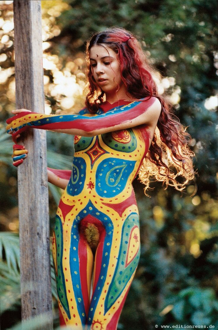 Nude body paint redhead — pic 2