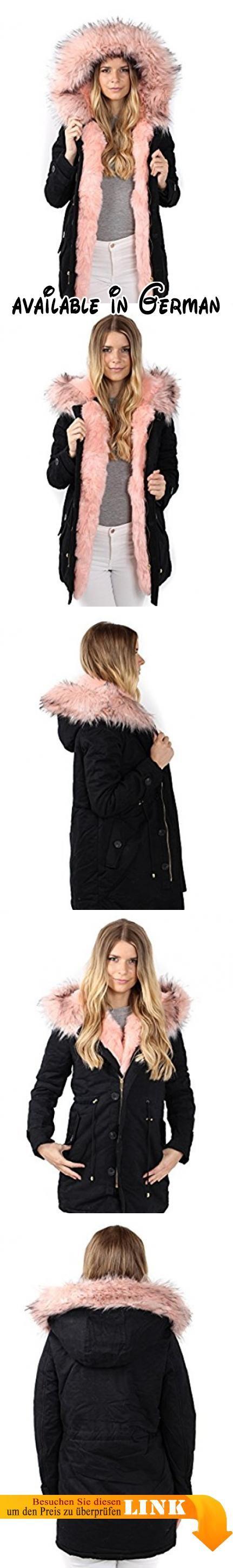 Parka Jacke Blogger Jacke Winter Fell FL7918 Damen Fashion Kunstfell Freshlions, Rosa, Gr. L. Kuschelige Fellblende an der Seite und Kapuze mit Fake Fur großzügig gefüttert (komplett herausnehmbar). Baumwolle; Innematerial Lining aus Polyester. Reißverschluss und Knopf Vorne mit Kordelzug an der Taille für optimale Passform. 5* Qualität und hochwertig verarbeitet. Unser Model ist 1,72m groß, hat normal eine Kleidungsgröße von 34/36 und trägt auf den Bildern Gr.