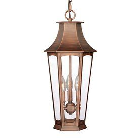 Cascadia Lighting Preston 22.25-In Brushed Copper Outdoor Pendant Light Atg12487500  sc 1 st  Pinterest : preston lighting emporium - azcodes.com