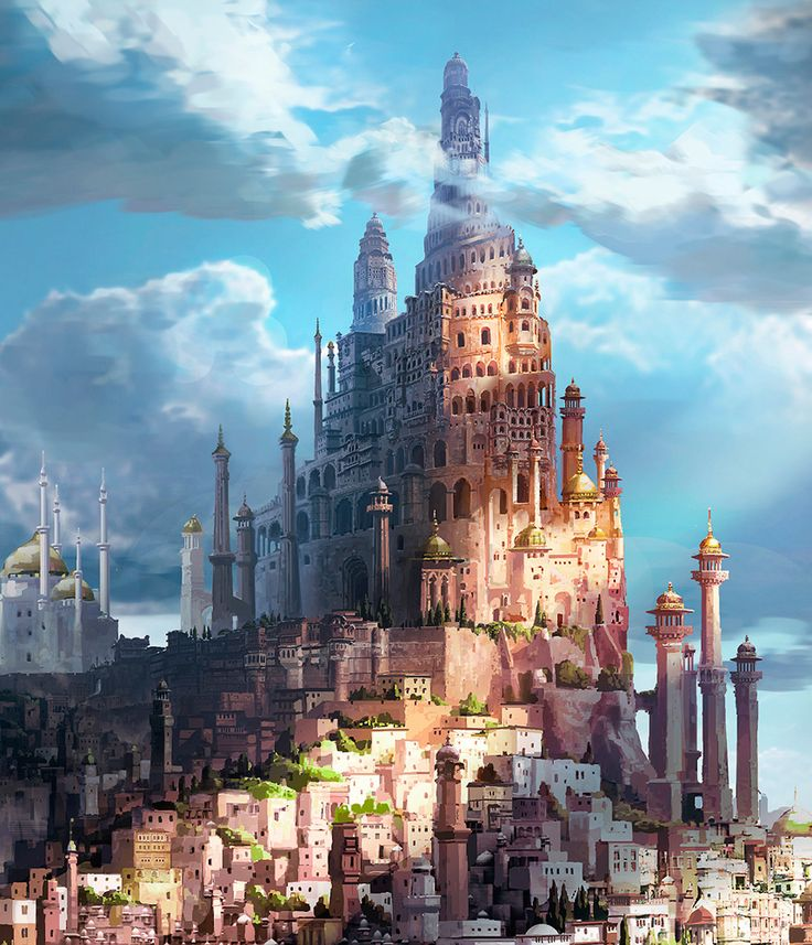 GREAT inspiration for the Chromeria tower from The Black Prism!