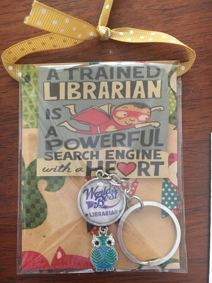 A personal favourite from my Etsy shop https://www.etsy.com/au/listing/558708761/worlds-best-librarian-keyring-in-neat