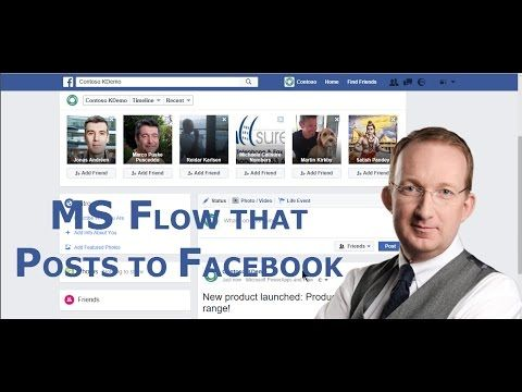*Create a Flow that posts to Facebook* Let an Office 365 flow post a status update to Facebook. In the demo we build on a flow created in an earlier demo, refer to http://www.kalmstrom.com/Tips/Office-365-Course/Microsoft-Flow-That-Posts-To-Facebook.htm