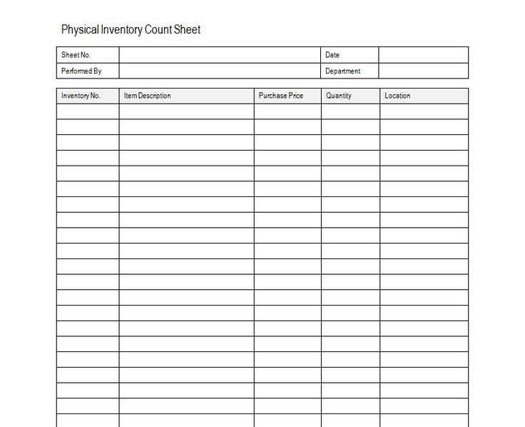 House Inventory List Template Freezer Inventory Free Printable More