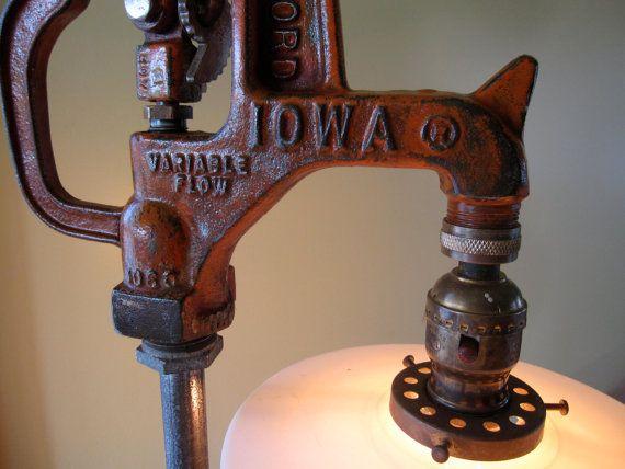 Reclaimed/Repurposed Vintage Industrial Water Pump Light