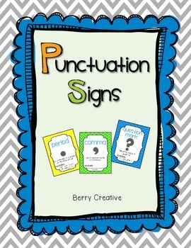This is a set of FREE punctuation posters for your classroom! Included in this set:  period exclamation point question mark apostrophe comma quotation marks hyphen colon  As always...thank you for your feedback:) Enjoy!