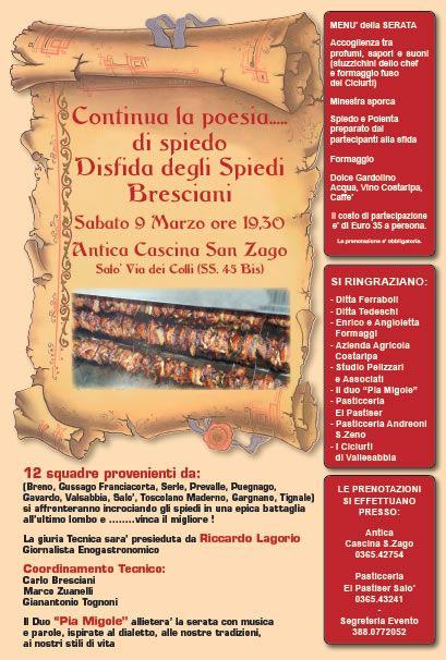Disfida degli Spiedi Bresciani a Salo http://www.panesalamina.com/2013/8597-disfida-degli-spiedi-bresciani-a-salo.html