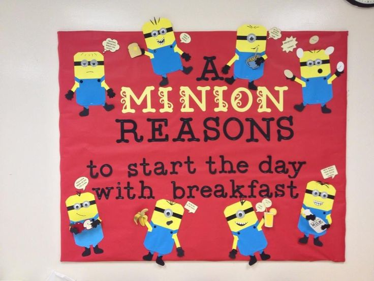 Minion Bulletin Board For The Nurses Office