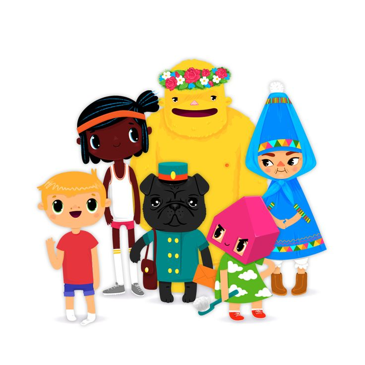 All six characters in Toca House by Toca Boca. http://itunes.apple.com/us/app/toca-house/id495680460?mt=8 #apps #kids #children #ipad #iphone