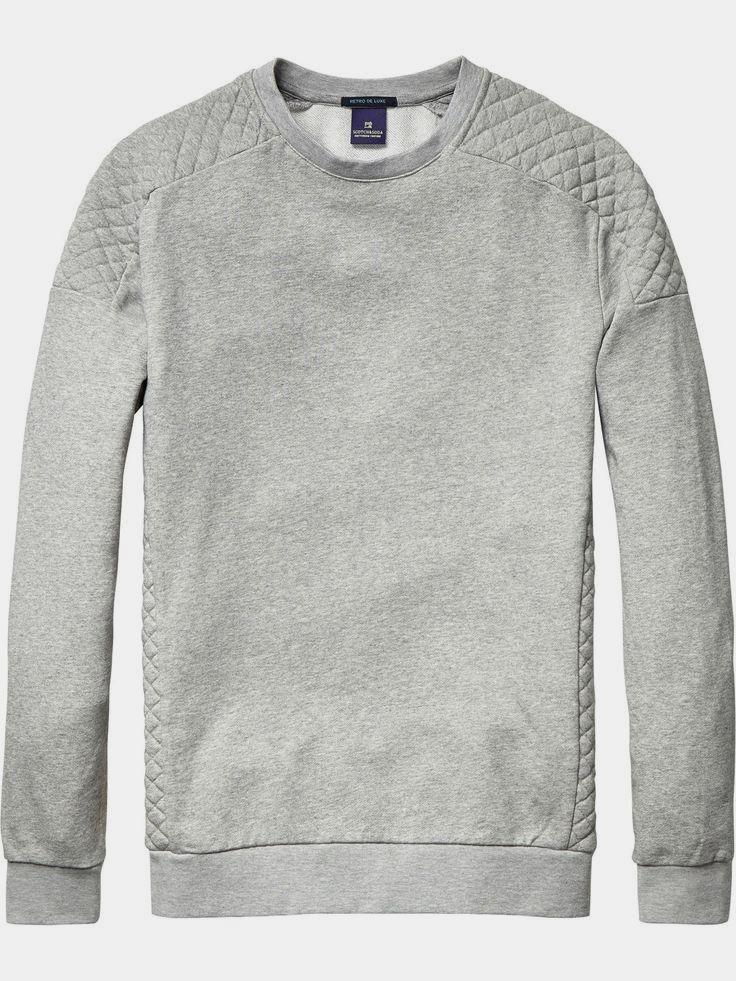 biker-inspired sweatshirt