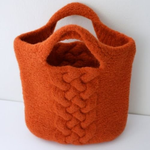 felted cable bag.