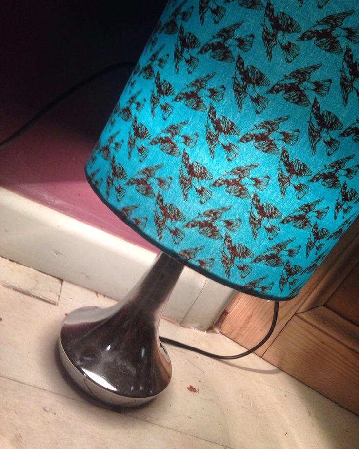Made this homemade lamp shade