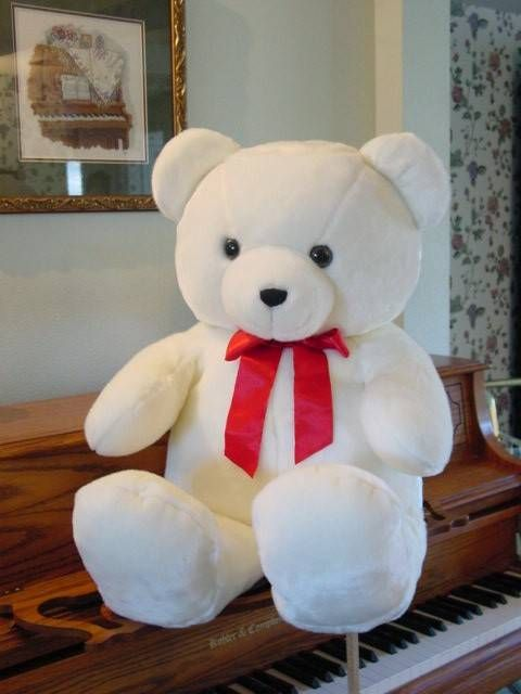A Cute White 2 5 Feet Teddy Bear For Special Ones
