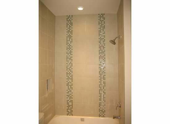 Creative   Blue Tile Tile Shower Bathroom Remodel Bathroom Ideas Bathroom